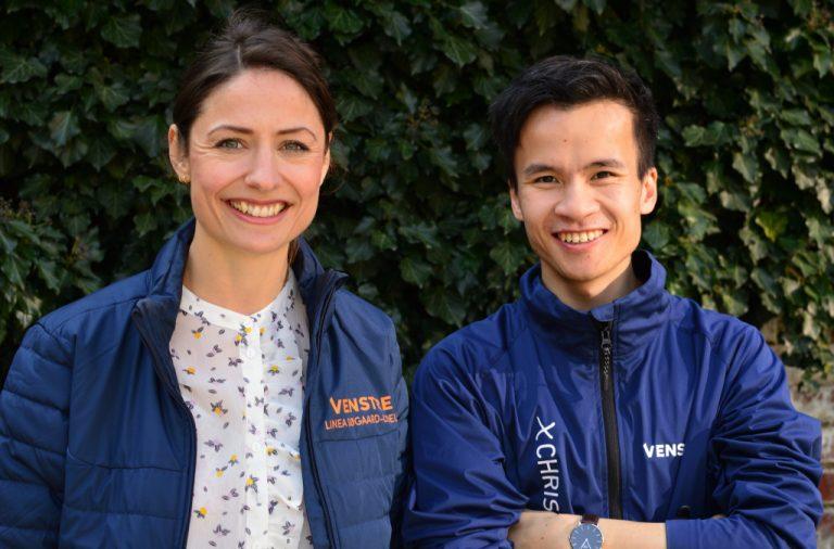 Linea Søgaard-Lidell og Christopher Trung fra Venstre