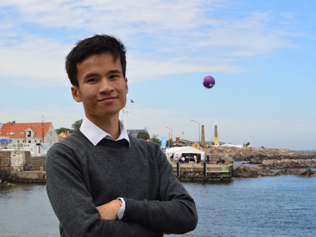 Slagelses byrådsmedlem Christopher Trung på Folkemødet 2019 på Bornholm